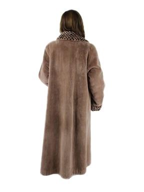 Tan Sheared Beaver Coat