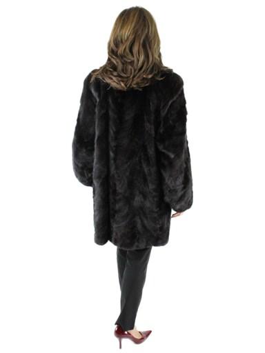 Section Mink Fur Stroller