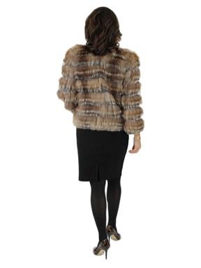 Cashmere Sweater w/ Silver Fox Fur