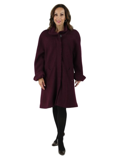 Wine Cloth Coat