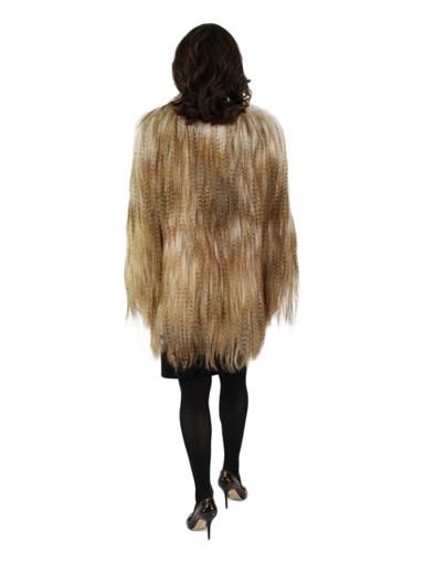 Desert Dyed Goat Fur Jacket