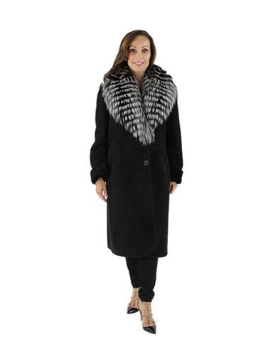 Shearling Lamb w/ Silver Fox Fur Trim