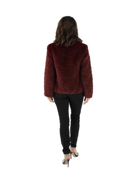 New Woman's Arancia Red Mink Jacket