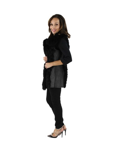 Leather & Fox Fur Vest