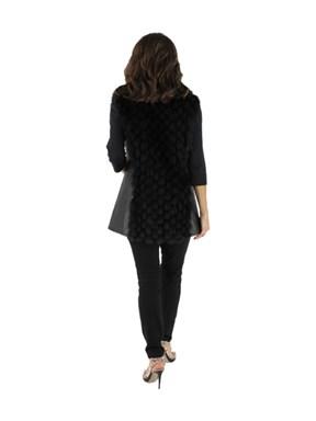 Leather & Fox Fur Vest