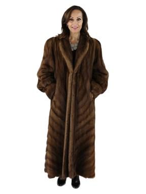 Demibuff Mink Fur Coat w/ Directional Design