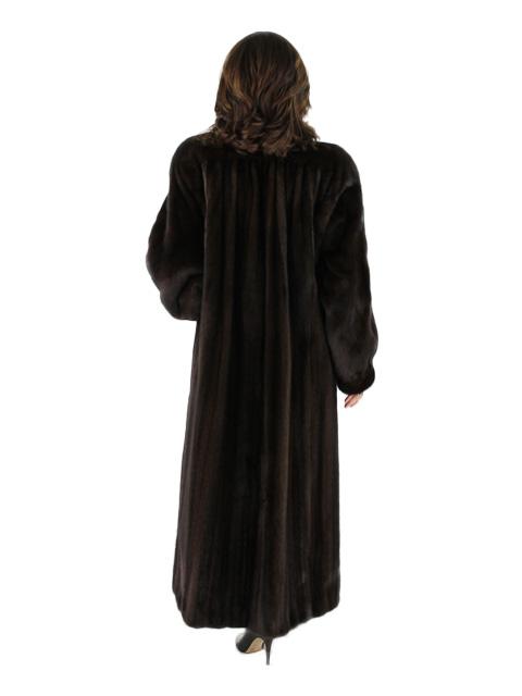 Dark Mahogany Mink Fur Coat