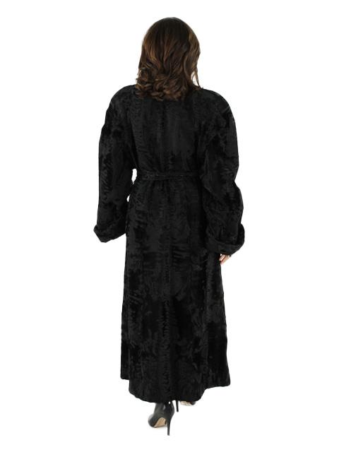 Black Swakara Russian Lamb Fur Coat