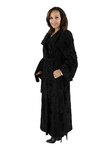 Swakara Russian Lamb Fur Coat