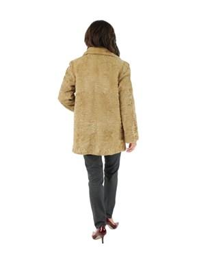 Golden Swakara Lamb Fur Stroller