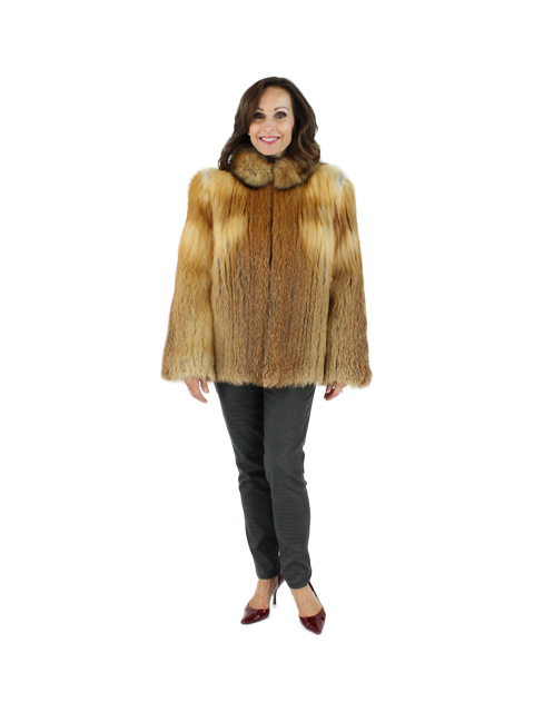 Woman's Natural Red Fox Fur Jacket