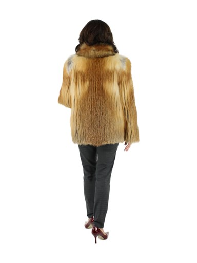 Natural Red Fox Fur Jacket