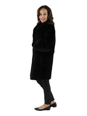 Sheared Mink Fur Reversible Stroller