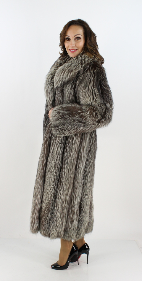 Silver Fox Fur Coat Women S Small Estate Furs