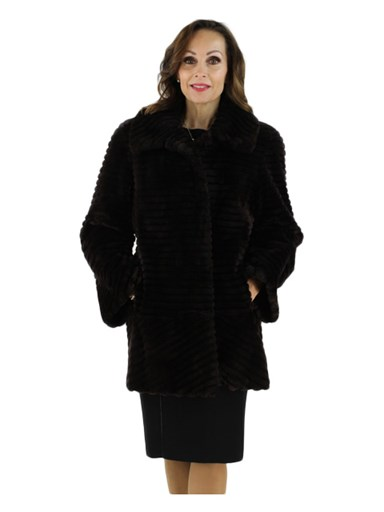 Matara Sheared and Grooved Beaver Fur Stroller