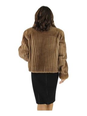 Autumn Haze Cord Cut Mink Fur Jacket