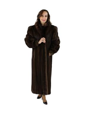 Mink Fur Coat w/ Sable Collar