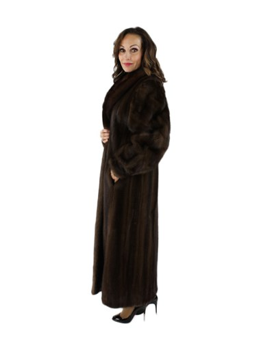 Mink Fur Coat w/ Sable Collar