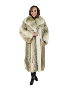 Coyote Fur Coat w/ Shadow Fox Trim