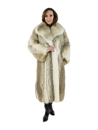 Coyote Fur Coat w/ Shadow Fox Trim