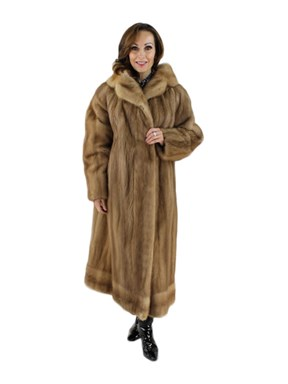 Plus Size Vintage Autumn Haze Mink Coat