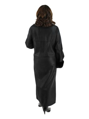 Shearling Coat with Sheared Nutria Fur Trim