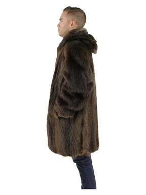 Long Hair Beaver Fur Parka