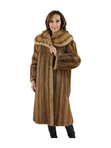Pastel Female Mink Fur Coat