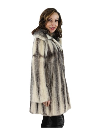Cross Female Mink Fur Jacket