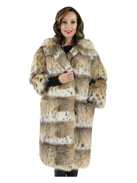 Cat Lynx Fur Coat