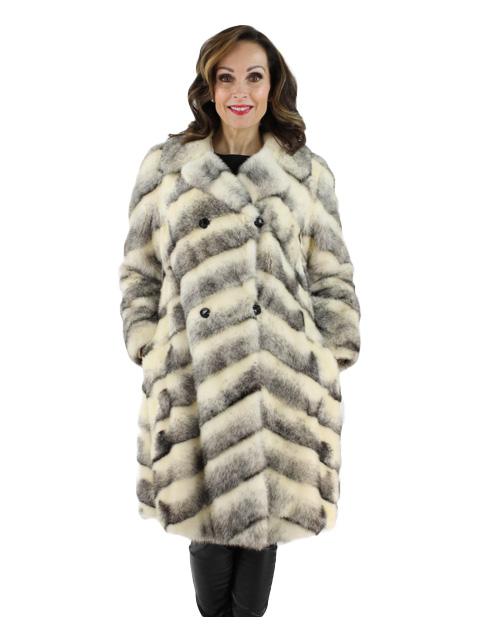 Black Cross Female Mink  7/8 Coat