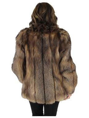 Crystal Fox Fur Jacket