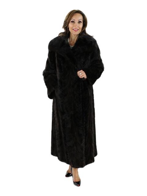 Mahogany Mink Section Coat