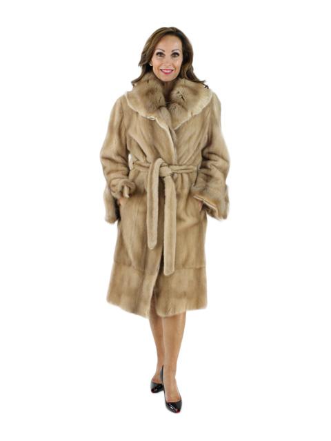 Woman's Fawn Sheared Mink Fur Stroller