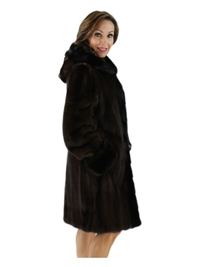 Female Mink Fur Stroller w/ Hood