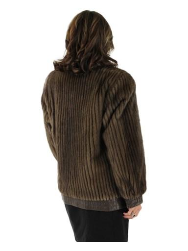 Lunaraine Mink Fur Cord Cut Reversible Jacket
