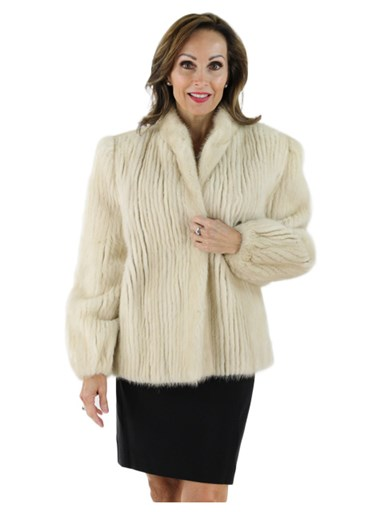 Tourmaline Cord Cut Mink Fur Jacket
