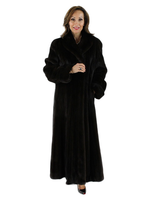 Woman's Ranch Female Blackglama Mink Fur Coat