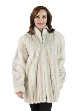 Azurene Mink Fur Zipper Jacket