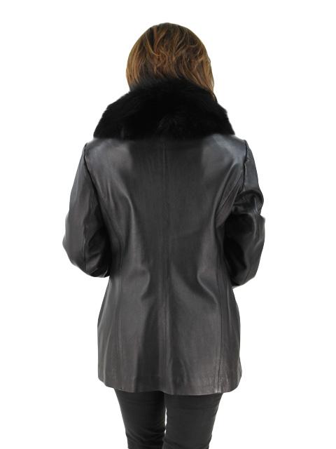 Black Lambskin Leather Blazer
