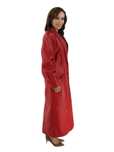 Leather Coat - Women's Large