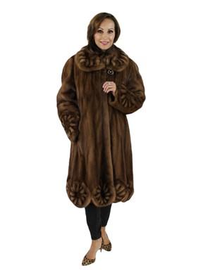 Lunaraine Mink Coat w/ Scalloped Bottom