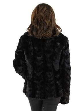 Sculptured Mink Fur Jacket