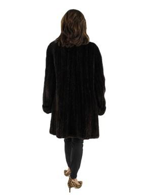Sheared Beaver Fur Knit Stroller