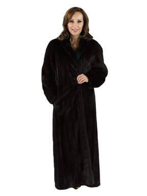 Dark Mahogany Female Mink Coat