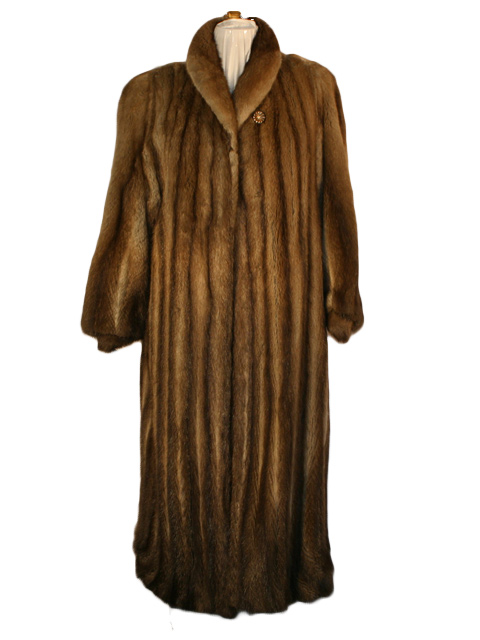 Let Out Muskrat Fur Coat