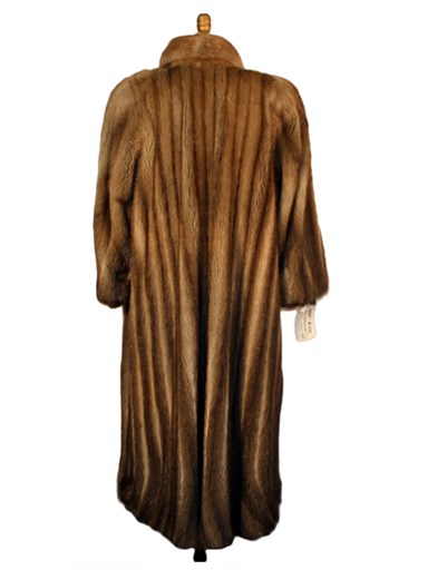 Let Out Muskrat Fur Coat