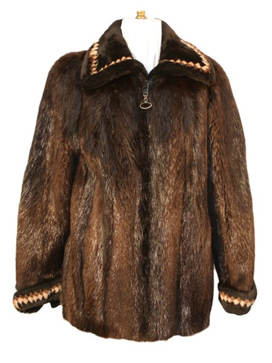 Beaver Fur Zipper Jacket