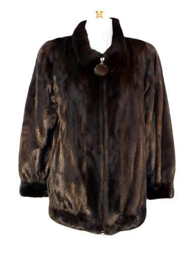 Ranch Mink Fur Zipper Jacket