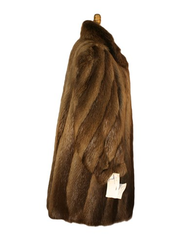 Beaver Fur Swing Coat